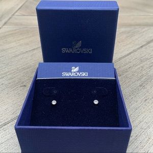 Swarovski Silver and Crystal Stud Earrings